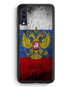 Samsung Galaxy A70 Silikon Hülle - Russland Splash Flagge Russia