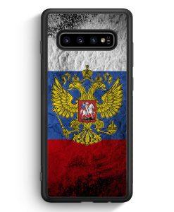 Samsung Galaxy S10 Silikon Hülle - Russland Splash Flagge Russia