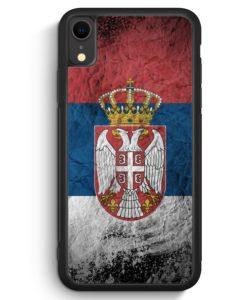 iPhone XR Silikon Hülle - Serbien Splash Flagge Serbia Srbija