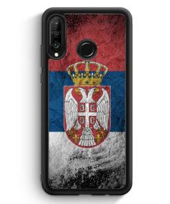 Huawei P30 Lite Silikon Hülle - Serbien Splash Flagge Serbia Srbija
