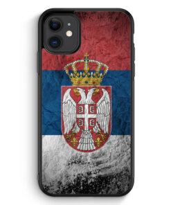 iPhone 11 Silikon Hülle - Serbien Splash Flagge Serbia Srbija