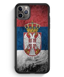 iPhone 11 Pro Max Silikon Hülle - Serbien Splash Flagge Serbia Srbija