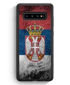 Samsung Galaxy S10e Silikon Hülle - Serbien Splash Flagge Serbia Srbija