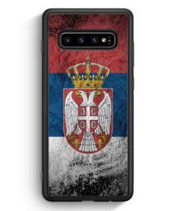 Samsung Galaxy S10 Silikon Hülle - Serbien Splash Flagge Serbia Srbija