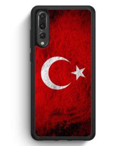 Huawei P20 Pro Hülle Silikon - Türkei Splash Flagge Türkiye Turkey
