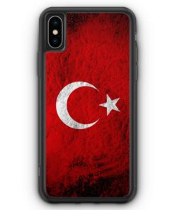 iPhone XS Max Silikon Hülle - Türkei Splash Flagge Türkiye Turkey