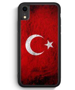 iPhone XR Silikon Hülle - Türkei Splash Flagge Türkiye Turkey