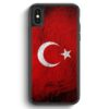 iPhone X & iPhone XS Silikon Hülle - Türkei Splash Flagge Türkiye Turkey