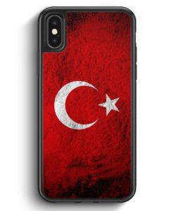 iPhone X & iPhone XS Silikon Hülle - Türkei Splash Flagge Türkiye Turkey