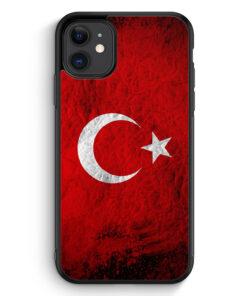 iPhone 11 Silikon Hülle - Türkei Splash Flagge Türkiye Turkey