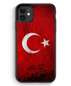 iPhone 11 Silikon Hülle - Türkei Splash Flagge Türkiye Turkey