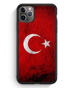 iPhone 11 Pro Max Silikon Hülle - Türkei Splash Flagge Türkiye Turkey