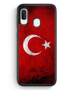 Samsung Galaxy A20e Silikon Hülle - Türkei Splash Flagge Türkiye Turkey