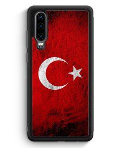 Huawei P30 Silikon Hülle - Türkei Splash Flagge Türkiye Turkey
