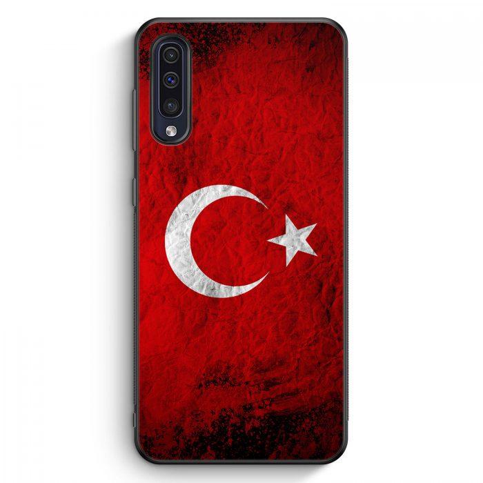 Samsung Galaxy A50 Silikon Hülle - Türkei Splash Flagge Türkiye Turkey