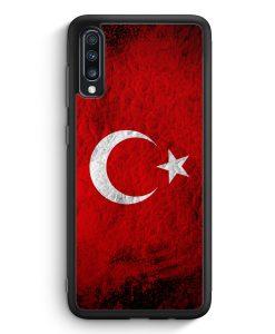 Samsung Galaxy A70 Silikon Hülle - Türkei Splash Flagge Türkiye Turkey