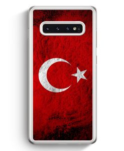 Samsung Galaxy S10+ Plus Hardcase Hülle - Türkei Splash Flagge Türkiye Turkey