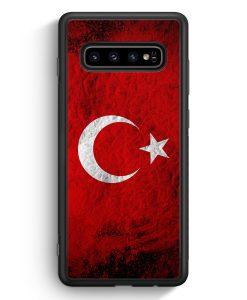 Samsung Galaxy S10e Silikon Hülle - Türkei Splash Flagge Türkiye Turkey