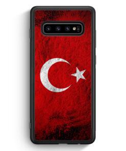 Samsung Galaxy S10 Silikon Hülle - Türkei Splash Flagge Türkiye Turkey