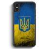 iPhone X & iPhone XS Silikon Hülle - Ukraine Splash Flagge Ukraina