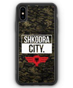 iPhone XS Max Silikon Hülle - Shkodra City Camouflage Albanien