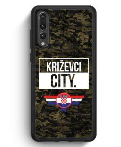 Huawei P20 Pro Hülle Silikon - Krizevci City Camouflage Kroatien