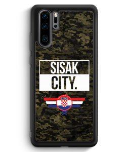 Huawei P30 Pro Silikon Hülle - Sisak City Camouflage Kroatien