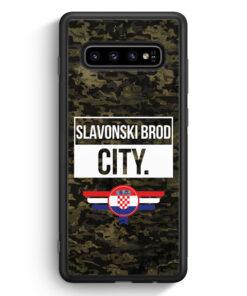 Samsung Galaxy S10 Silikon Hülle - Slavonski Brod City Camouflage Kroatien