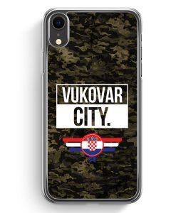 iPhone XR Hardcase Hülle - Vukovar City Camouflage Kroatien