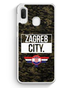 Samsung Galaxy A20e Hardcase Hülle - Zagreb City Camouflage Kroatien