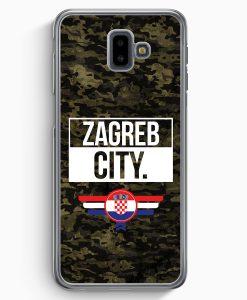 Samsung Galaxy J6+ Plus (2018) Hardcase Hülle - Zagreb City Camouflage Kroatien