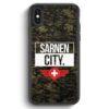 iPhone X & iPhone XS Silikon Hülle - Sarnen City Camouflage Schweiz