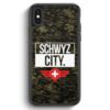 iPhone X & iPhone XS Silikon Hülle - Schwyz City Camouflage Schweiz