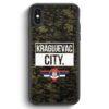 iPhone X & iPhone XS Silikon Hülle - Kragujevac City Camouflage Serbien