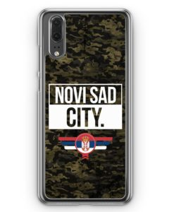 Huawei P20 Hülle Hardcase - Novi Sad City Camouflage Serbien