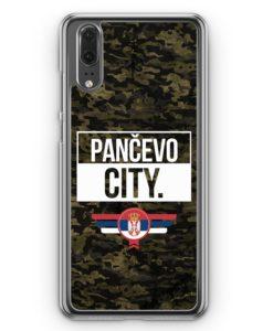 Huawei P20 Hülle Hardcase - Pancevo City Camouflage Serbien
