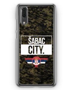 Huawei P20 Hülle Hardcase - Sabac City Camouflage Serbien