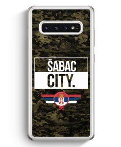 Samsung Galaxy S10+ Plus Hardcase Hülle - Sabac City Camouflage Serbien