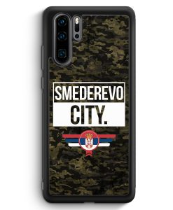 Huawei P30 Pro Silikon Hülle - Smederevo City Camouflage Serbien