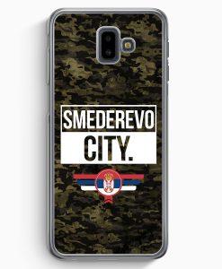 Samsung Galaxy J6+ Plus (2018) Hardcase Hülle - Smederevo City Camouflage Serbien