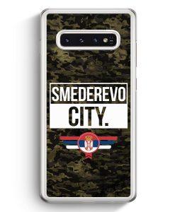 Samsung Galaxy S10+ Plus Hardcase Hülle - Smederevo City Camouflage Serbien