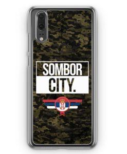 Huawei P20 Hülle Hardcase - Sombor City Camouflage Serbien