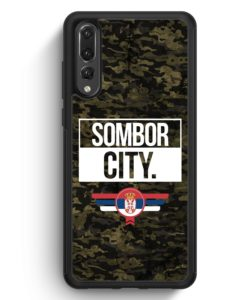 Huawei P20 Pro Hülle Silikon - Sombor City Camouflage Serbien