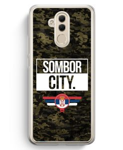 Huawei Mate 20 Lite Hardcase Hülle - Sombor City Camouflage Serbien