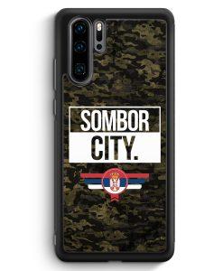 Huawei P30 Pro Silikon Hülle - Sombor City Camouflage Serbien