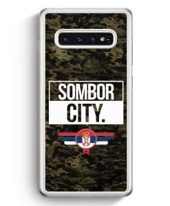 Samsung Galaxy S10+ Plus Hardcase Hülle - Sombor City Camouflage Serbien