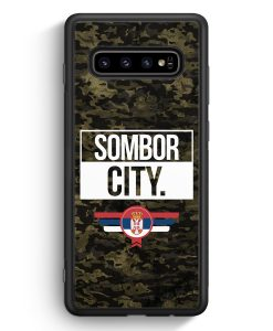 Samsung Galaxy S10e Silikon Hülle - Sombor City Camouflage Serbien
