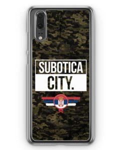 Huawei P20 Hülle Hardcase - Subotica City Camouflage Serbien