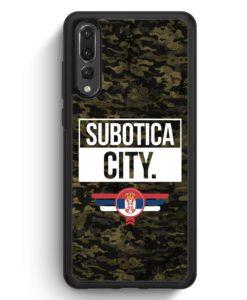 Huawei P20 Pro Hülle Silikon - Subotica City Camouflage Serbien
