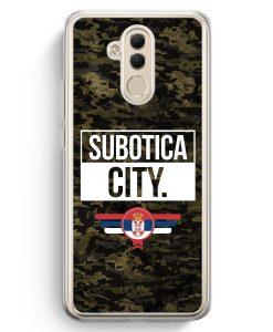 Huawei Mate 20 Lite Hardcase Hülle - Subotica City Camouflage Serbien